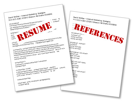 Resume With References | New Calendar Template Site